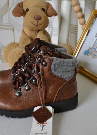 Ботинки mothercare на мальчика 23 размер