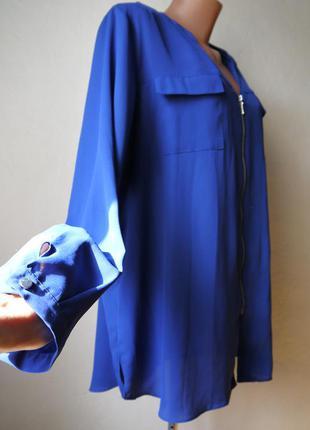 Блуза рубашка на молнии