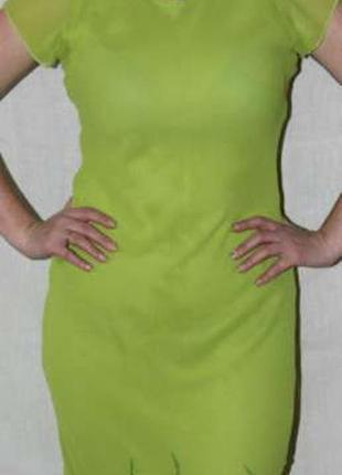 Шифоновое платье в пол с нежной вышивкой на подоле размер 44-48