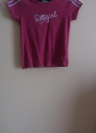 Розовая футболочка от adidas