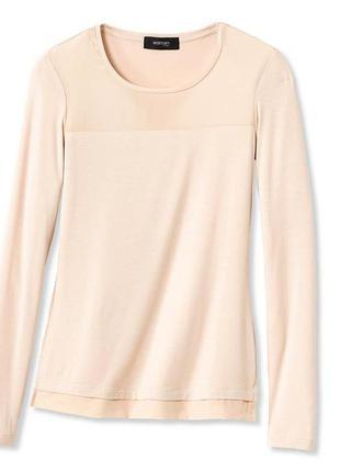 Мягкая блуза из вставками 100% шелка tcm tchibo