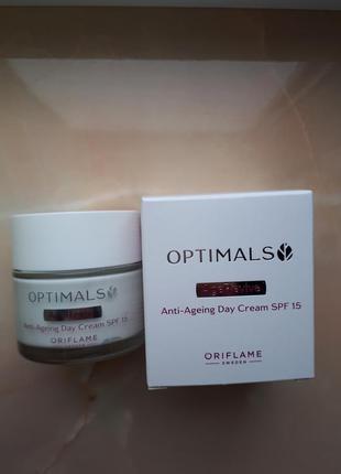 Антивозрастной дневной крем для лица spf 15 optimals age revive орифлейм