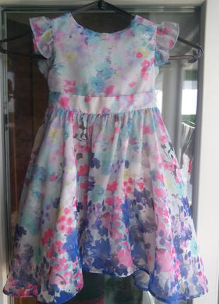Платье tu нарядное на девочку 2 3 года в цветочек пышное