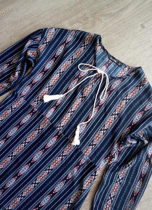 Шикарная блуза вышиванка от boohoo м-l