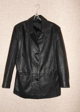 Натуральная кожаная куртка пиджак