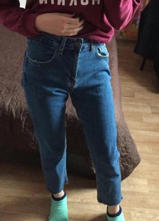 Бойфренд джинсы bershka mom jeans