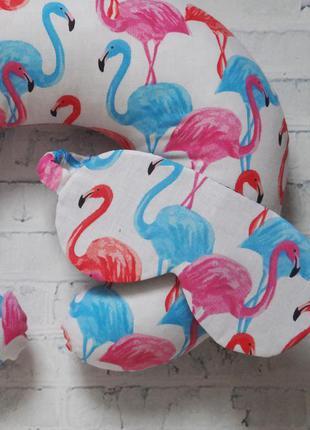 Маска для сна - фламинго
