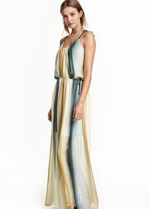 Платье макси  из шифона h&m