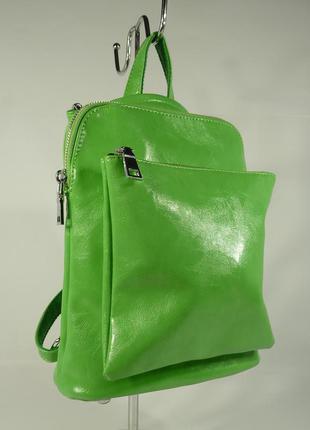 Стильный рюкзак-сумка valensiy 88118 зеленый