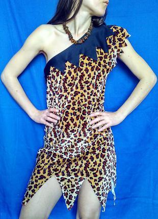 Платье сценическое карнавальное вильма флинстоун / размер m