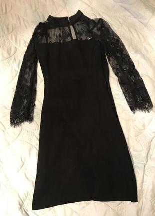 Красивое , строгое платье , чёрное платье
