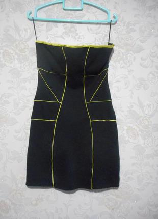 Новое мини- платье бюстье bershka с биркой. размер s-m.