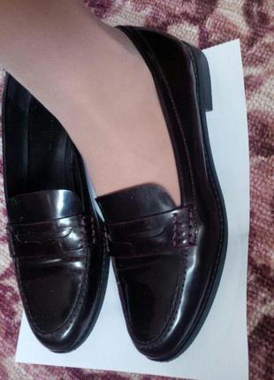 Туфли лоферы zara
