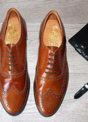 Элитные кожаные туфли gleneagles, made in italy! 43 р.