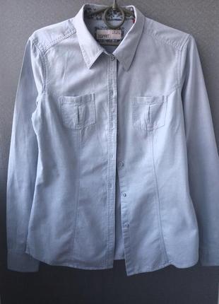 Котоновая рубашечка небесно-голубого цвета
