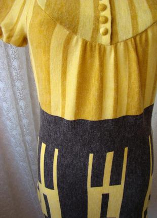 Платье трикотаж зима-осень мини бренд lavand р.42 №4486