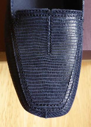 Новые шикарные кожаные туфли лоферы clarks, размер 38,5, недорого!!!