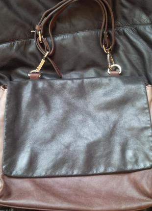 Стильная базовая кожаная итальянская сумка gianni chiarini италия оригинал кожа