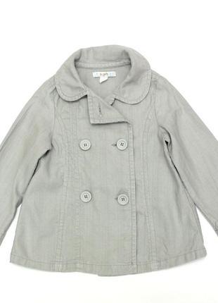 Коттоновый пиджак  zara,5-6 лет