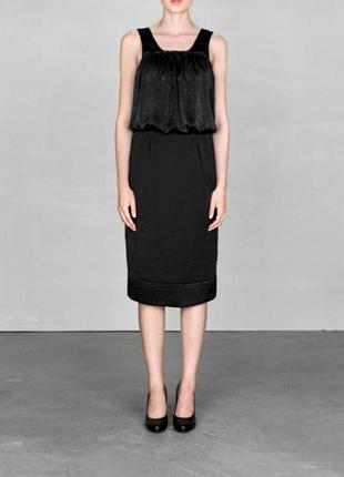 Новое чёрное платье миди  коктейльное вечернее праздничное