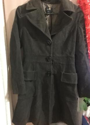 Шикарное теплое пальто mango suit