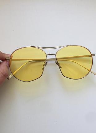 Жёлтые очки в стиле zara