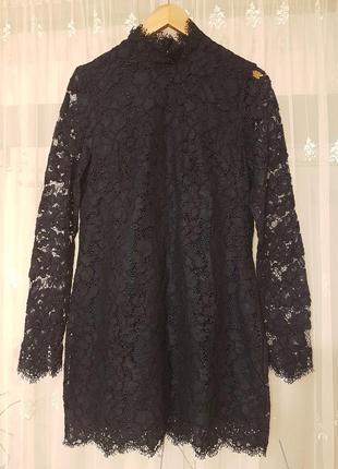 Вечернее, выпускное кружевное платье миди h&m