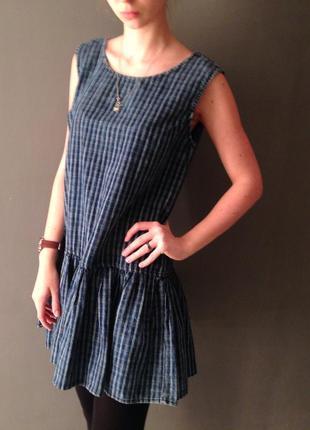 Стильное синие платье