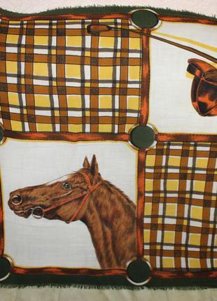 Винтажный шерстяной платок