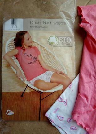 Пижама для девочки, 116см, lupilu, германия.