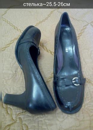 Шикарні шкіряні фірмові туфлі  кожа на широку ногу