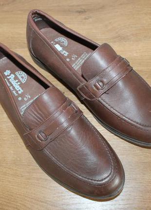 Качественные кожаные мокасины padders, 6 1\2 размер