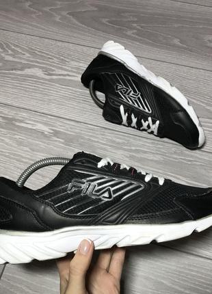 Кроссовки fila чёрные оригинал размер 39 для бега зала спорта сеточные