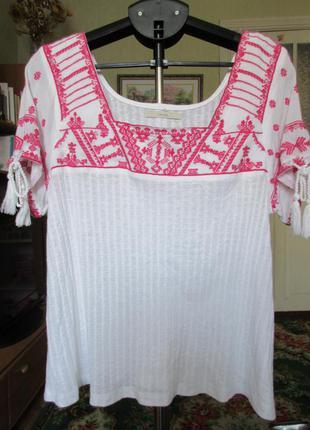 Блуза футболка с вышивкой 12 р-р