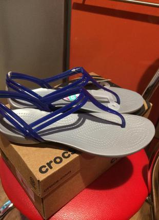 Босоножки шлёпки крокс crocs