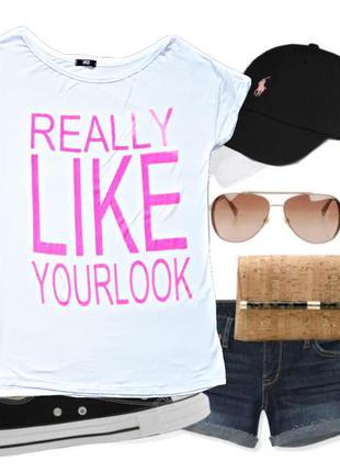 Белая футболочка yes or no  size m