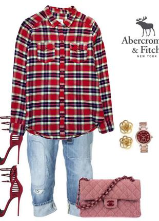 Стильная рубашка  abercrombie & fitch usa