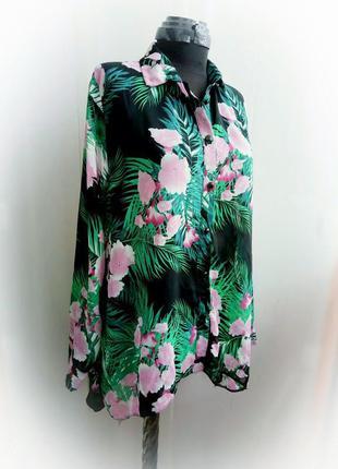 Шикарная шифоновая блуза рубашка принт