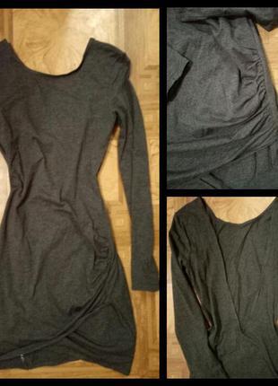 Платье от h&m с открытой спиной.