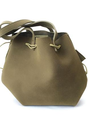 Замшевая сумка на средних ручках, сумка шоппер stradivarius