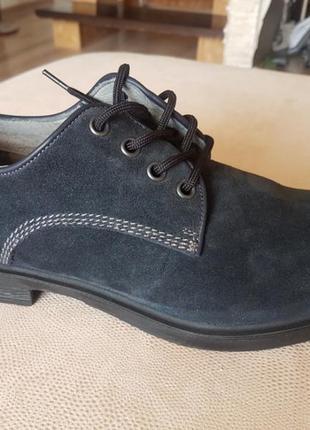Туфли темно-синие нубук италия