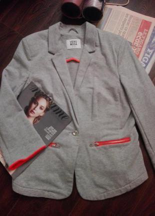 Пиджак-жакет трикотажный без подкладки