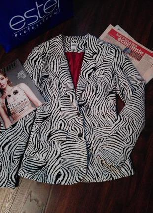 Пиджак-жакет трикотажный на подкладке