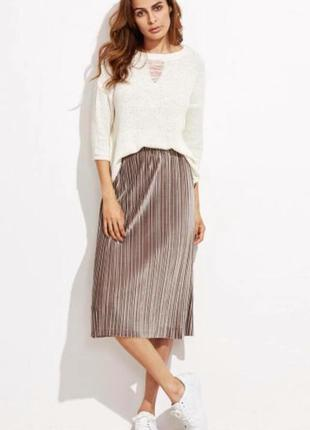 Трендовая велюровая юбка h&m