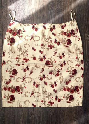 Юбка мини в цветочек s. oliver