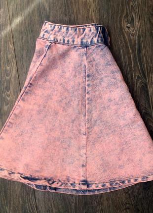 Джинсовая мини юбка варёнка denim co