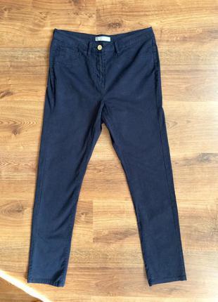 Брендовые штаны marks&spencer темно-синие на каждый день