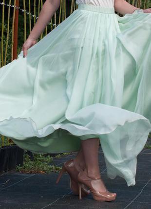 Идеальное выпускное /вечернее платье ментолового/мятного цвета ателье