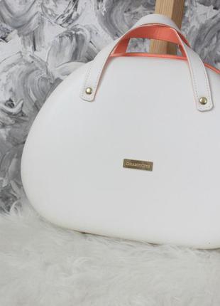 Сумка багаж эко кожа сумочка каркасная с короткими ручками для путешествий косметики и тд