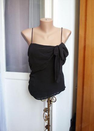 Шелковая блуза / топ karen millen 100% шелк